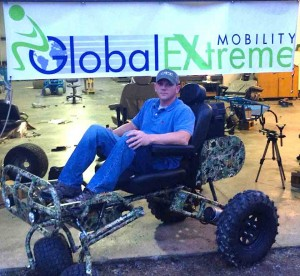 Jim Hardy with his new outdoor rig from Global Extreme Mobility.