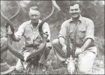Author Ernest Hemingway, right, on safari.