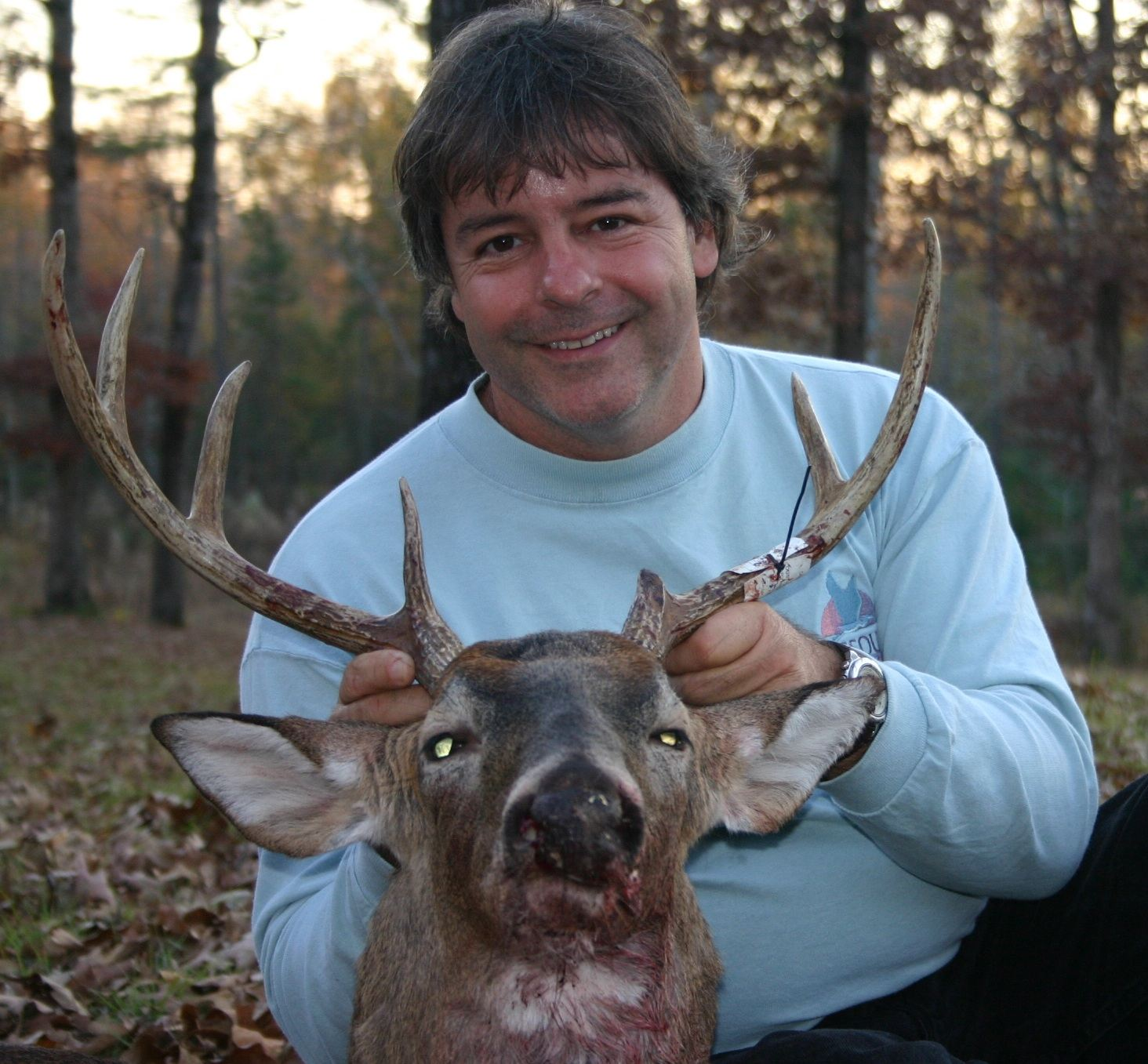 Bryan Hendricks of Arkansas with a fine whitetail.