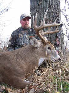 Higgins shot this great buck from a stand he hung in spring, giving the woods time to really settle down before he returned months later.
