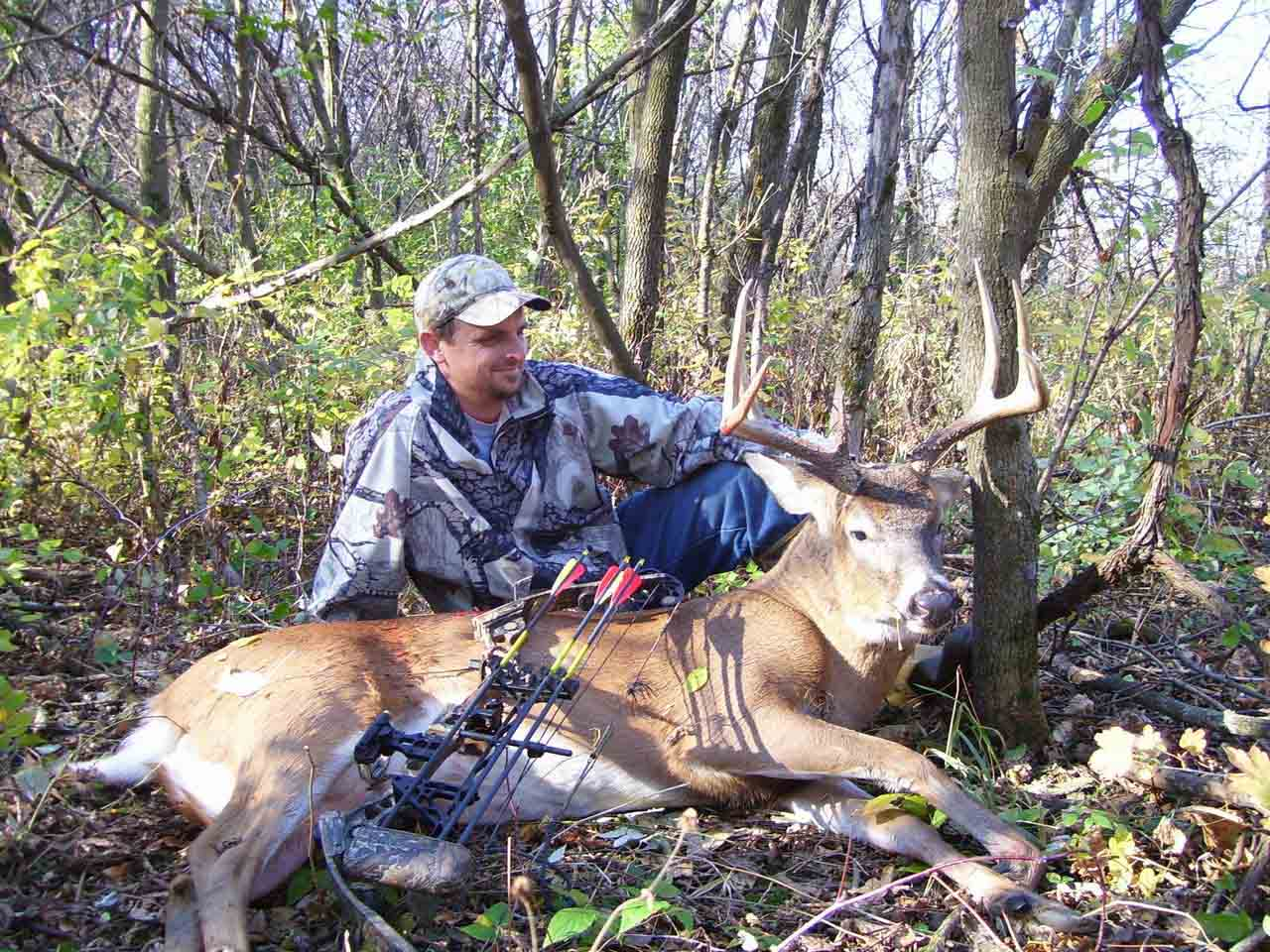Limited visits to stands deep in his hunting areas minimizes impact on older deer.