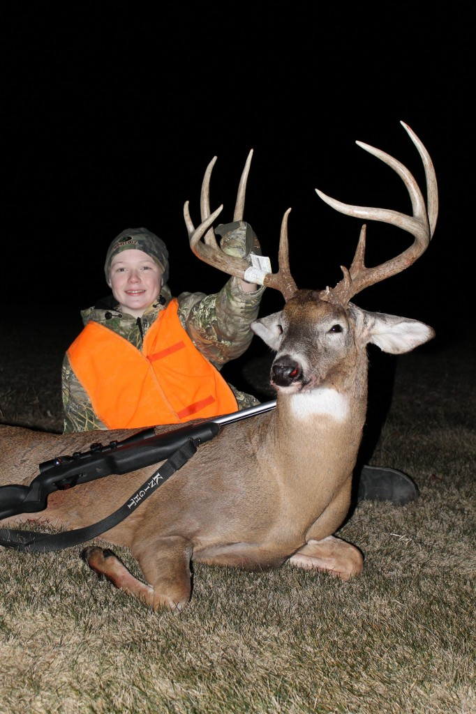 Nick Mattly with The Big 9 he shot with his muzzleloader while hunting with his dad.