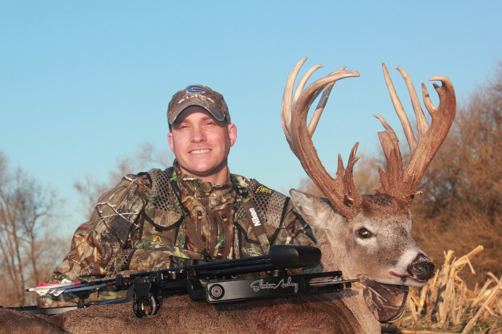After 25 years of bowhunting, I was able to score on a monster Kansas Whitetail