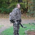 My husband, Jason, heading out for the evening hunt.