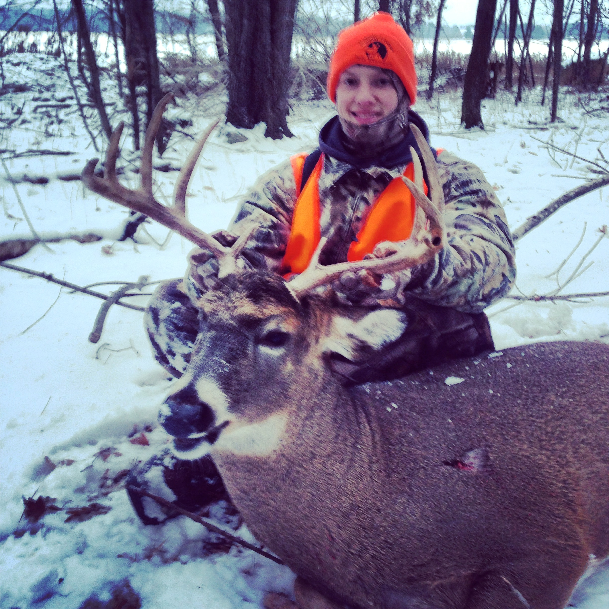 Joe Jo Breznik with a fine Wisconsin buck from mid-November.