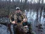 Josh Saucier with his Panther NWR swamp buck!
