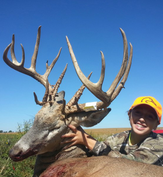 Kamryn Vogel of Iowa dropped this gorgeous Iowa 206-point buck on opening day of the state's youth season.