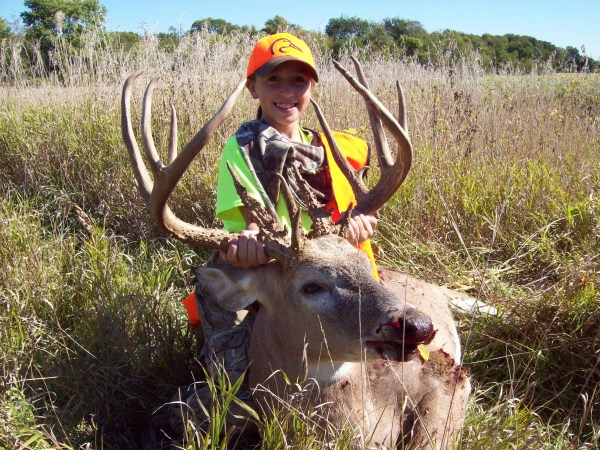 Kamryn Vogel's giant Iowa buck may be the biggest one she ever hangs on the wall, but there are other big bruisers in the state known for giants.
