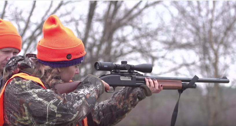 Katie Pavlich checks her Hawke scope to make sure it's on target.