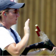 Kim Rhode at the 2004 Olympics during her run of five straight with a medal. (Photo: USA Shooting)