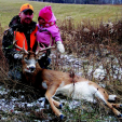 According to cementum annuli aging, this Pennsylvania buck was 8½ years old when Wildlife Biologist Kip Adams (pictured with his daughter) shot him. High hunter densities in the area typically prevent bucks from reaching half of that age, which makes it a truly special trophy.