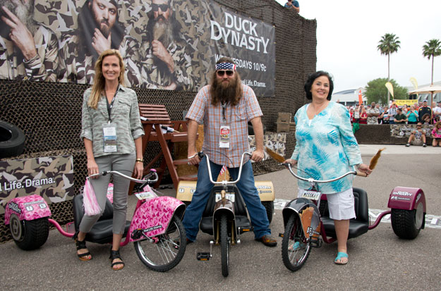 Korie, Willie and Ms. Kay Robertson all stay busy but find time to help with charitable fundraisers.