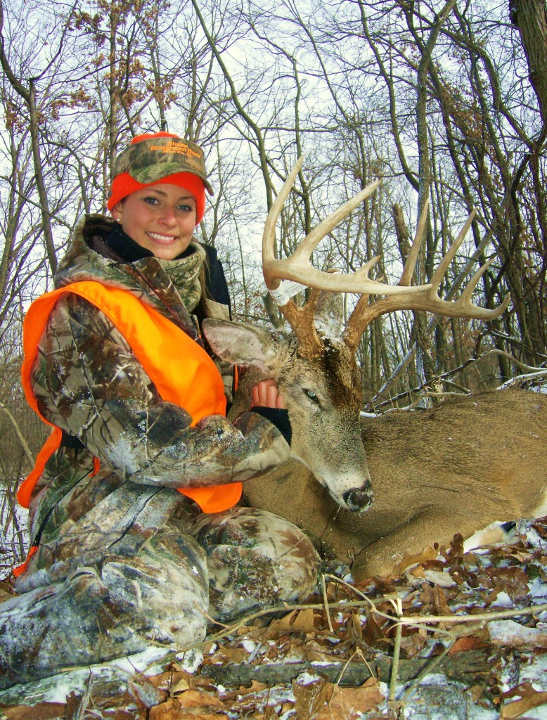 Laura Swarts with First Buck