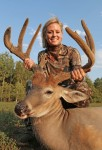 Destination Whitetail host Lauren Rich with a super Wisconsin buck!