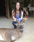 Bowhunter Marissa Ballard with a great Florida buck!