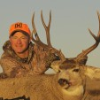 DDH TV co-host Mark Kayser and a mule deer buck he toppled testing the new Hornady ELD-X bullet. (Photo copyright Mark Kayser)