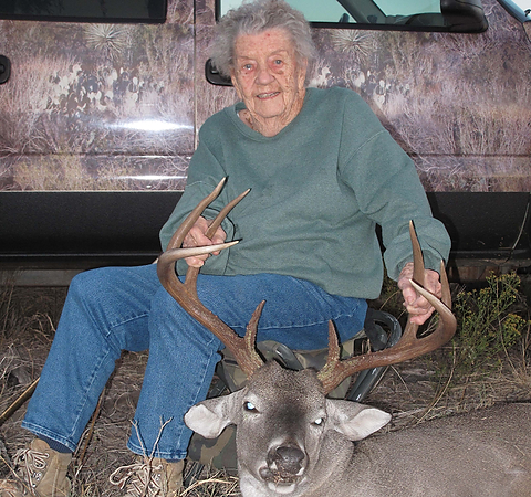 Mary Hundley of Texas hasn't let her age - she's 100! - stop her from deer hunting! (Photo: Robert Hundley III / Lone Star Outdoor News)
