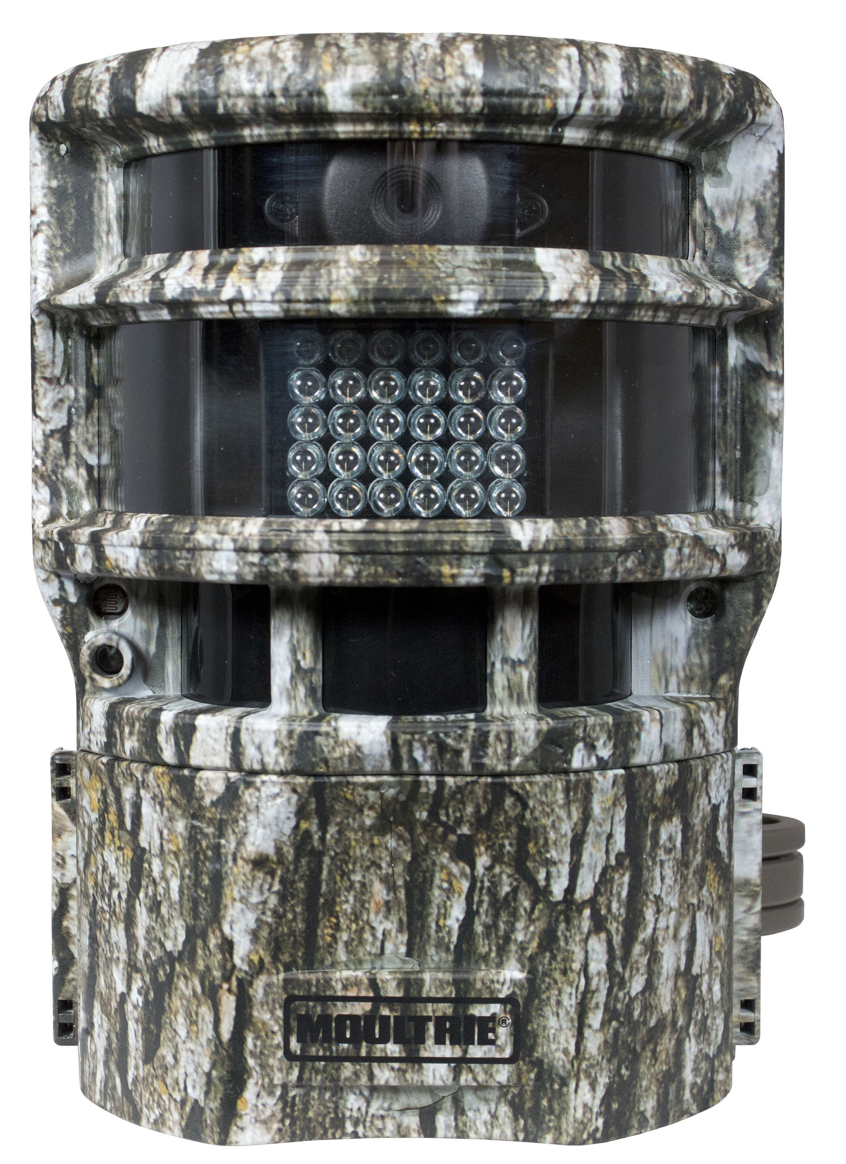 The Moultrie Panoramic 150 has a quiet, sliding lens that takes images with a wide field of view day or night. It's a great camera for your hunting land or home security plans.