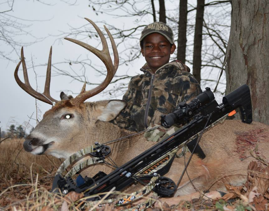 Muluken Rucks of Wisconsin with his first buck! Congratulations!
