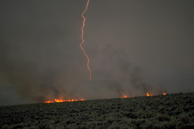 Fires burning throughout the western United States have scorched hundreds of thousands of acres. (Photo: Oregon Public Broadcasting)