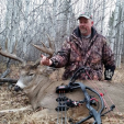 Blake Shelby of PSE with the company's new Carbon Air bow and a Canada brute.