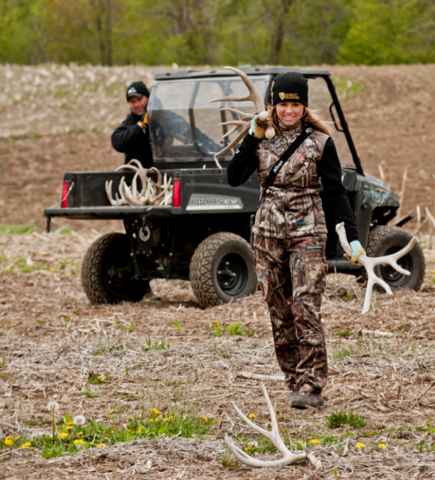 Shed hunting can be a family activity and, if you want to add a twist, a little competition to find the biggest shed!