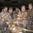 Left to right: Chad John, Don Barry, hunting guide Ty, Pat, Don Barry Jr.