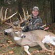 Pat and his buck that is one of the top 20 typical whitetails ever taken with a bow.