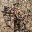 Pat and Nicole Reeve manage their property, scout, and hunt together because they love the outdoors and interacting with deer and other wildlife.
