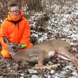 Payton Specht killedhis first deer Nov. 22 on his 11th birthday in Price County.  Photo Credit: WDNR