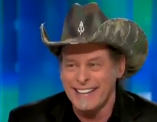 Ted Nugent and Piers Morgan