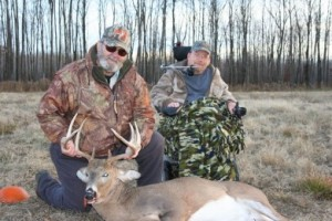 Ralph Barten (left) and Don Christensen with their Wisconsin buck.