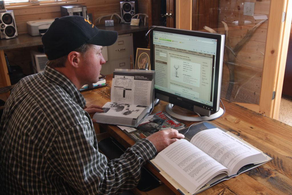 Utilize all the resources available online and with past data you've collected through camera surveys, mapping and in-field experience while researching for trophy whitetail hunting destinations. This includes your shed hunting trips where you've located antlers and logged that into your record books. (PHOTO: Copyright Mark Kayser)