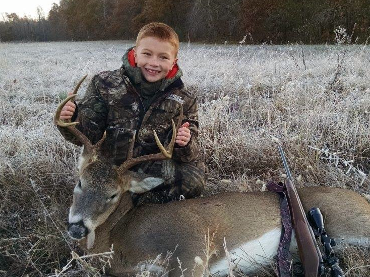 This is one happy youngster with his Kentucky buck. Congrats!