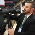 Rob Lancelloti of Swarovski Optik demonstrating the new Swarovski spotting scope (DDH Photo: Darren Warner)