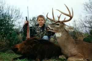 Rocco Nugent with a Deer and a Hog