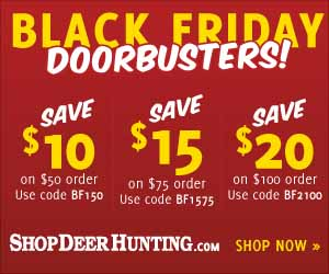 Thanksgiving and Black Friday Hunting Gear Specials Button