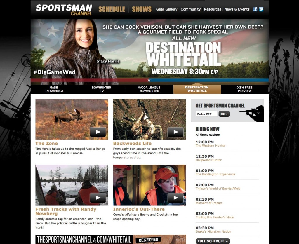 Destination Whitetail on Sportsman Channel