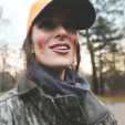 "Alabama's Stacy Harris received a ""blooding"" after shooting her first deer this past season. (photo by Destination Whitetail TV)"