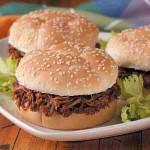 Shredded venison makes great sandwiches! (Photo: TasteofHome.com)