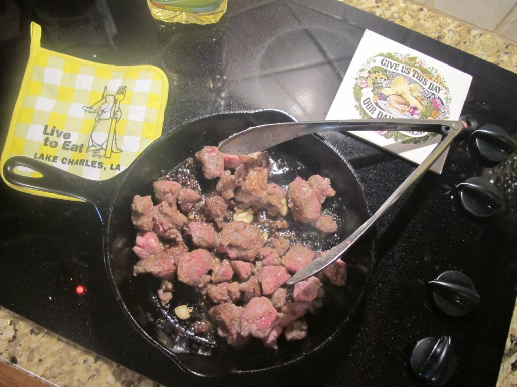 Browning meat is a key step in preparation