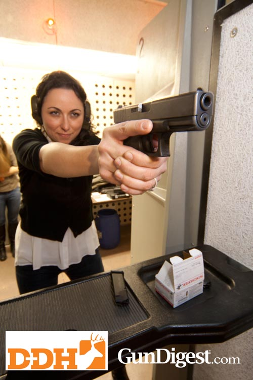 Stephanie Lombardi with the Glock