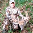 Stephen Burchett with his opening morning Kentucky velvet buck. Great way to start the bow season!