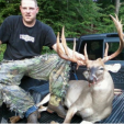 Steven Davis of North Carolina with his crossbow buck that pushes 190-plus inches!