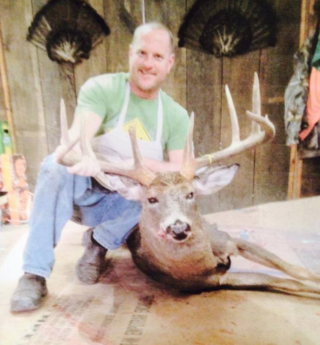What a super buck taken from Stueben County, New York! It has a 24-inch inside spread. Salute!