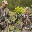 Whether you're hunting, hanging stands or moving them around, always remember to wear a safety harness, stay hooked up, and let someone know where you'll be. Safety first! (Photo: Summit Stands)