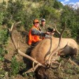 Ted celebrating his ginormous Hill Ranch wapiti monster!