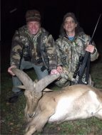 Joe and Ted with a gobstopper aoudad!