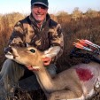 Ted doesn't always look for antlers! He'll whack a nice doe like this one at Wexford Hunting in south Texas any day!