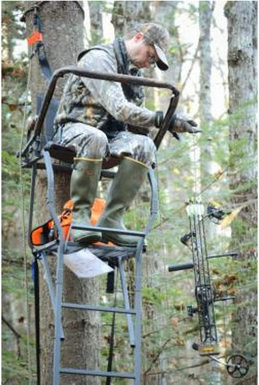Falling from tree stands is a major cause of hunting injuries. Follow safety advice, wear a harness and don't rush when you're using a stand. (PHOTO: Tom Rogers)